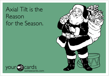 Axial Tilt is the  Reason for the Season.