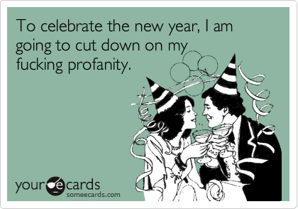To celebrate the new year, I am going to cut down on my
