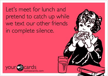 Let's meet for lunch and
