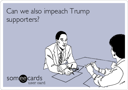 Can we also impeach Trump supporters?