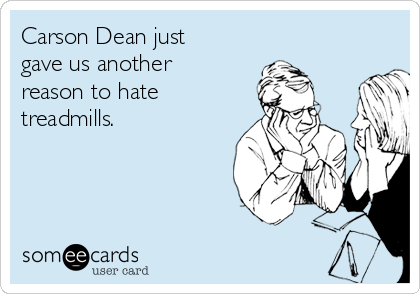 Carson Dean just gave us another reason to hate treadmills.