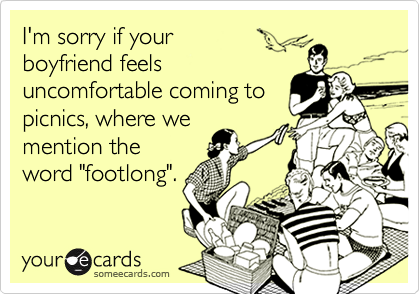I'm sorry if your 