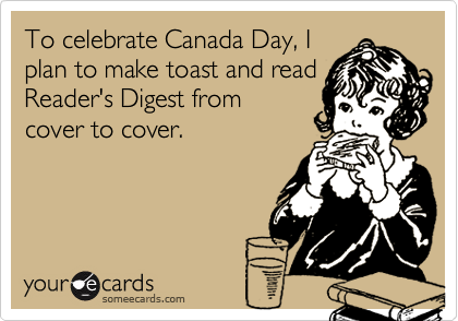 To celebrate Canada Day, I