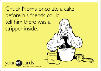 Pleasant Chuck Norris Once Ate A Cake Before His Friends Could Tell Him Funny Birthday Cards Online Alyptdamsfinfo