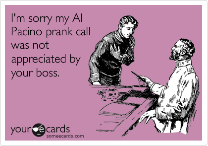 I'm sorry my Al