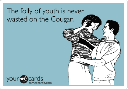 The folly of youth is never