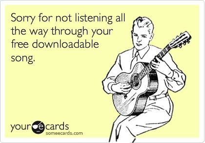 Sorry for not listening all