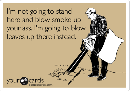 I'm not going to stand