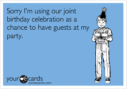 Sorry I'm using our joint