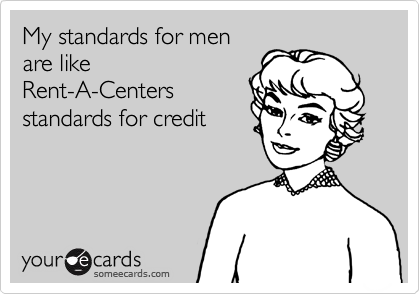 My standards for men