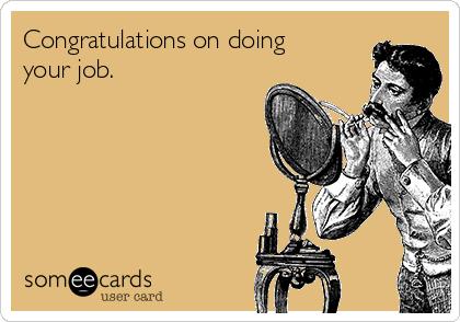congratulations job