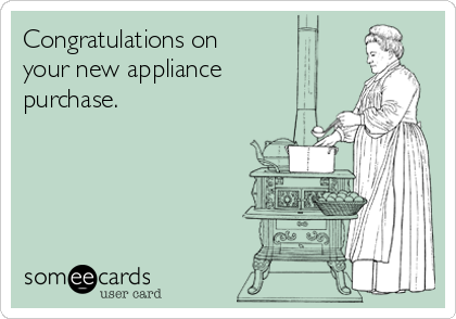 Congratulations on your new appliance purchase.
