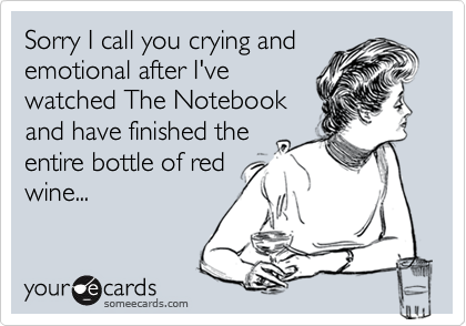 Sorry I call you crying and