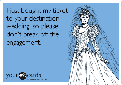 I just bought my ticket