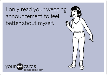 I only read your wedding