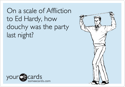 On a scale of Affliction