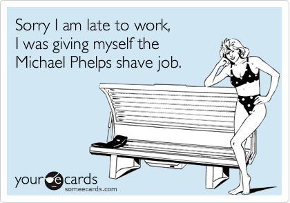 Sorry I am late to work, 