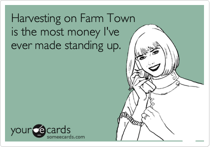 Harvesting on Farm Town