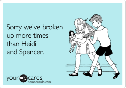 Sorry we've broken