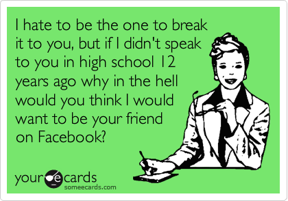 I hate to be the one to break