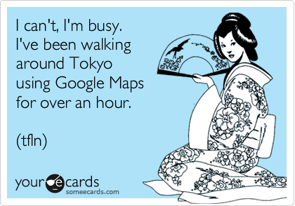 I can't, I'm busy. 