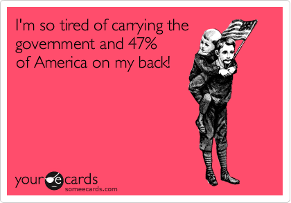 I'm so tired of carrying the