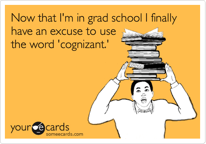 Now that I'm in grad school I finally have an excuse to use
