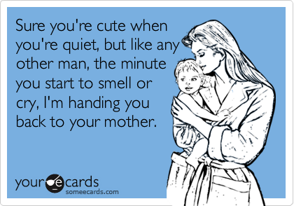Sure you're cute when