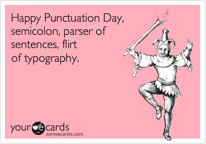 Happy Punctuation Day,