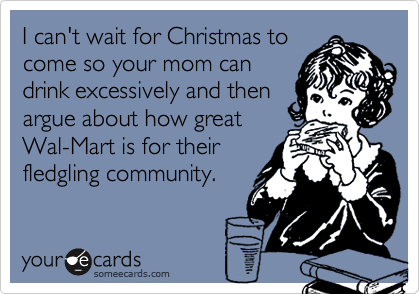 I can't wait for Christmas to