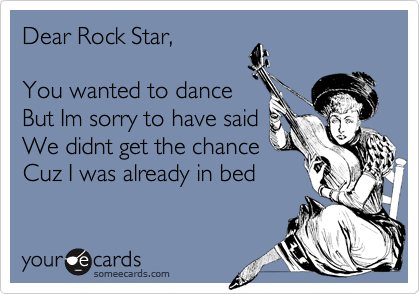 Dear Rock Star,