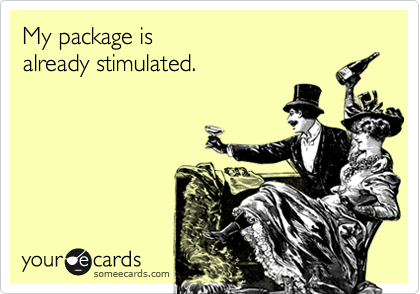 My package isalready stimulated.