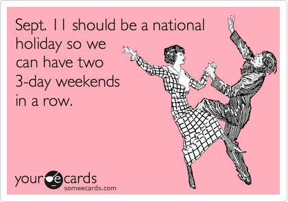 Sept. 11 should be a national