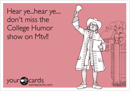 Hear ye...hear ye....