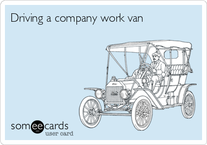 Driving a company work van