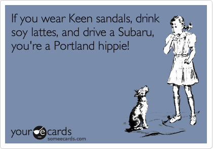 If you wear Keen sandals, drink
