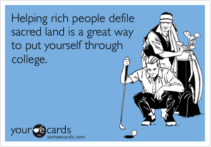 Helping rich people defile