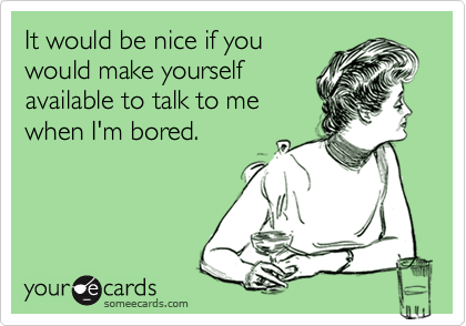 It would be nice if you