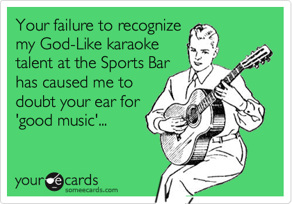 Your failure to recognize