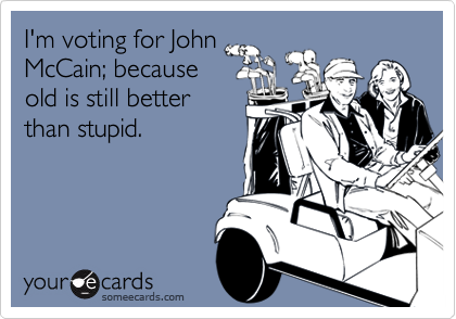 I'm voting for John