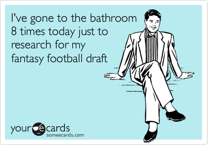 I've gone to the bathroom