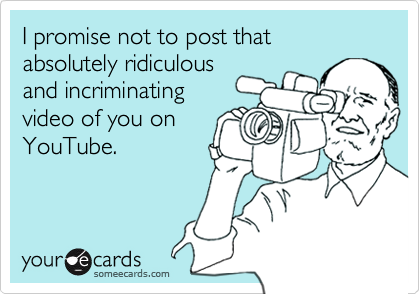 I promise not to post that absolutely ridiculous