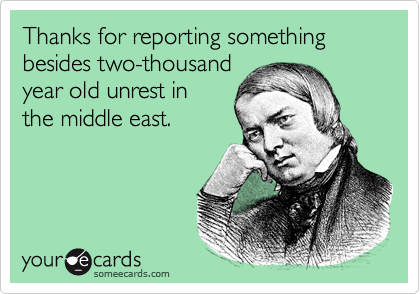 Thanks for reporting something besides two-thousand