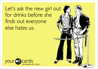 Let's ask the new girl out