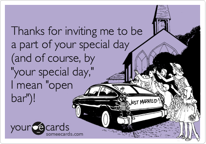 Thanks for inviting me to be