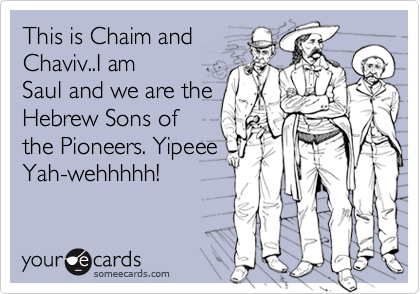 This is Chaim and 