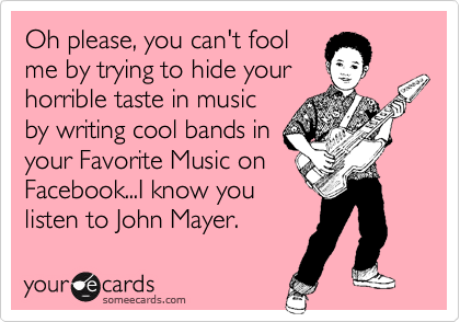 Oh please, you can't fool