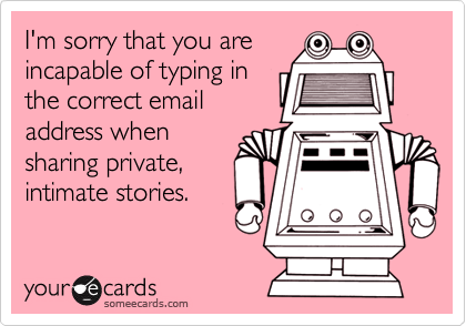 I'm sorry that you are
