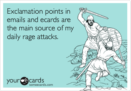 Exclamation points in