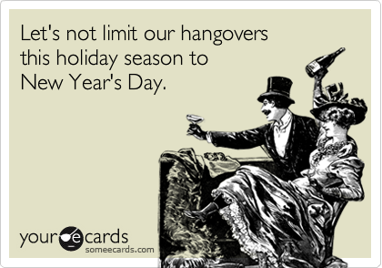 Let's not limit our hangovers 